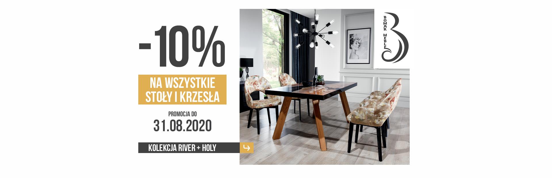 Promocja na wszystkie stoły i krzesła od marki Bomar