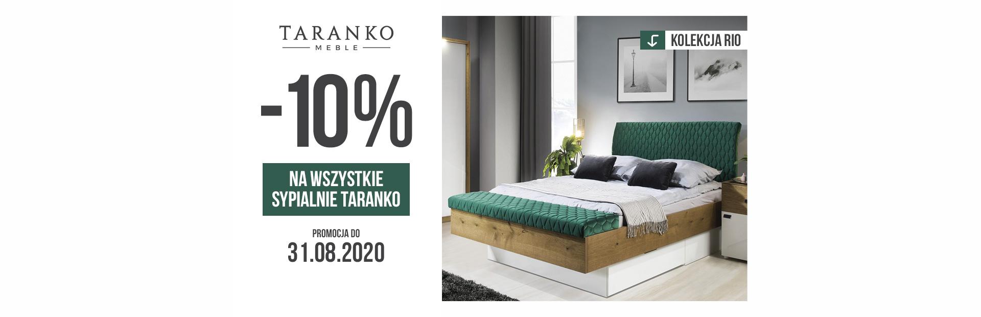 Promocja na wszystkie meble sypialniane od Taranko Meble